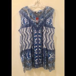Avenue plus 18-20 2 layer tops sleeveless blouses